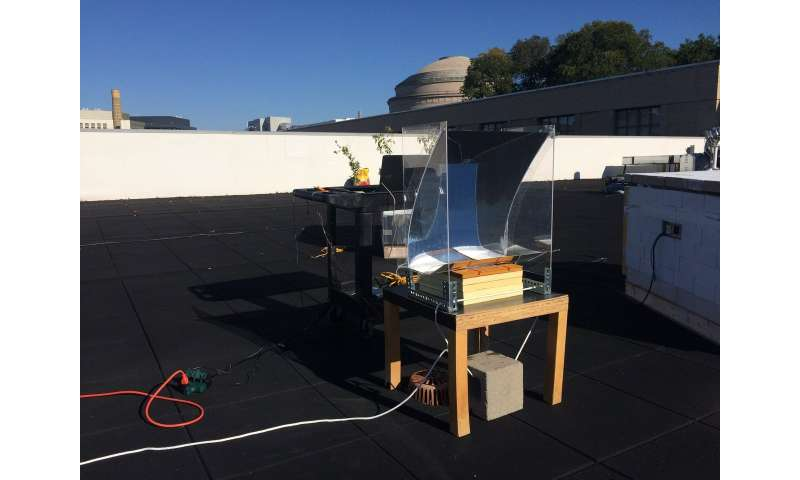 Sun-soaking device turns water into superheated steam