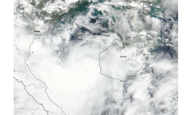 Suomi NPP satellite sees compact storm Son-Tinh Headed for Vietnam