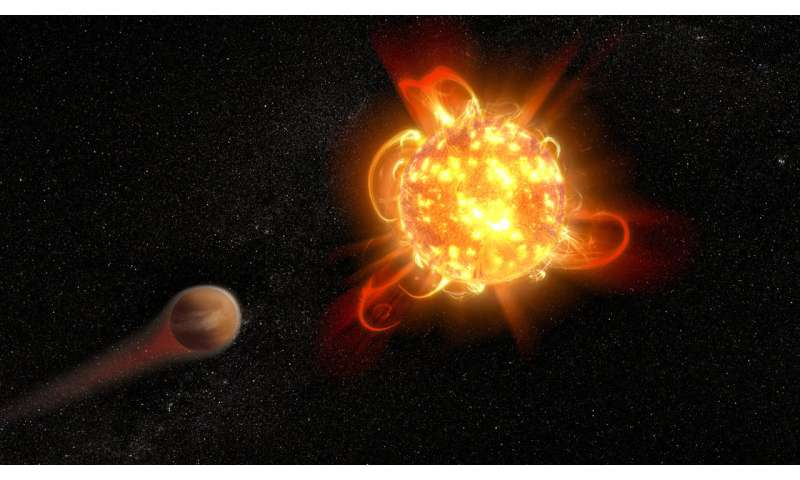 Superflares from young red dwarf stars imperil planets