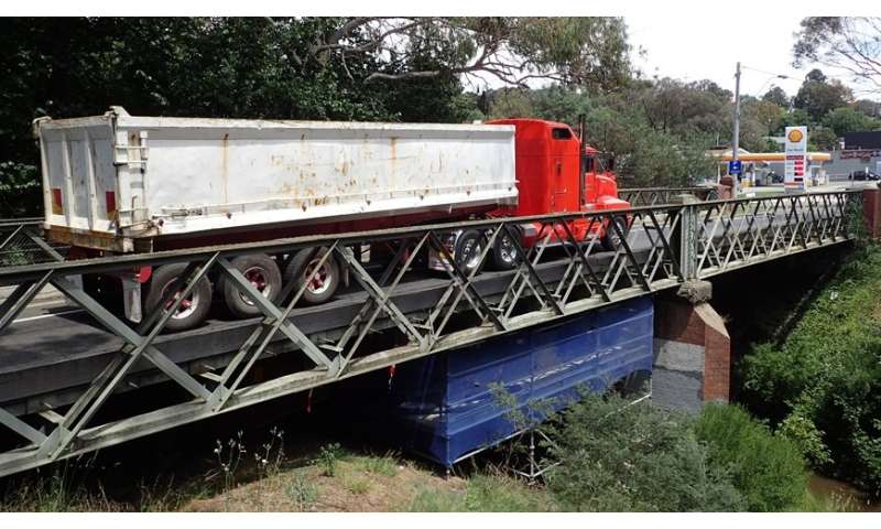 Supporting brace for historical steel bridges