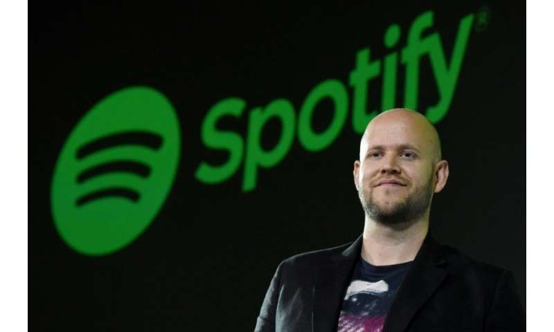 Swedish music streaming service Spotify, whose CEO Daniel Ek is seen here, saw shares drop after a disappointing quarterly updat