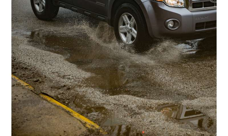Temperature swings could cause pothole problems for drivers