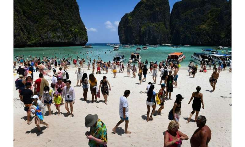 The 2000 movie 'The Beach' prompted hordes of tourists to visit,  damaging the coral ecosystem and eroding the once pristine whi