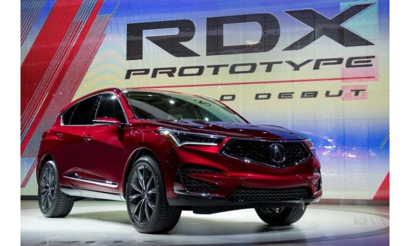 The Acura RDX prototype is introduced during the 2018 North American International Auto Show in Detroit, Michigan, on January 15