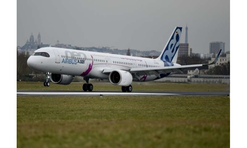 The Airbus A321 neo LR(long range) test plane is making its maiden flight across the Atlantic on Tuesday