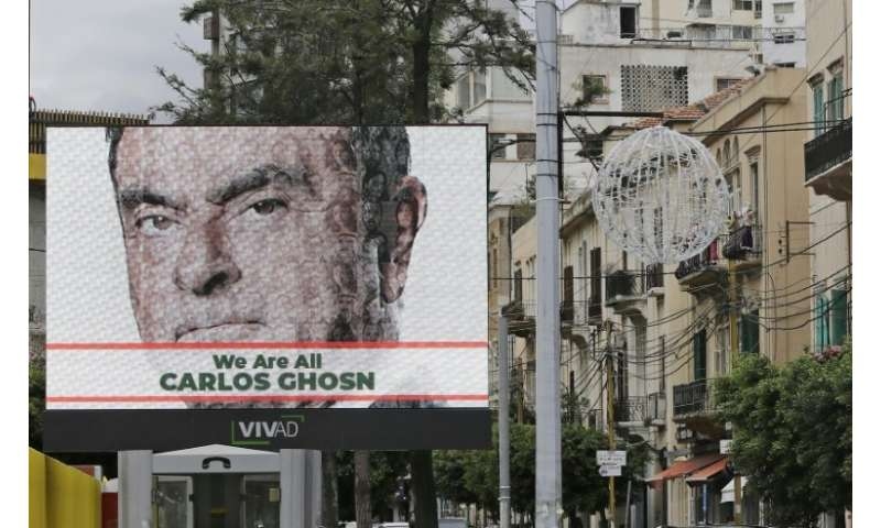 "The arrest has fuelled anger in Lebanon, with billboards around Beirut proclaiming ""We are all Carlos Ghosn"""