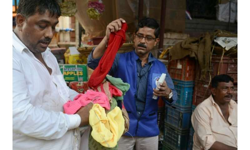 The 'blue squad' is tasked with enforcing a recent ban on single-use plastics in India's commercial capital Mumbai