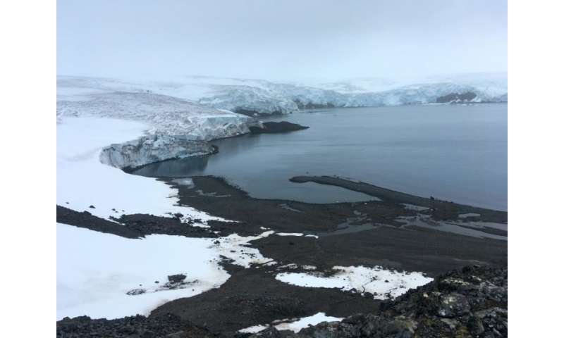 The Collins glacier on King George Island in the Antarctic has retreated in the last 10 years and shows signs of fragility
