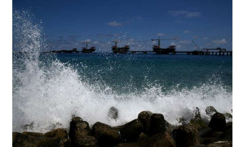 The existence of island nations like the Maldives is at risk from rising sea levels