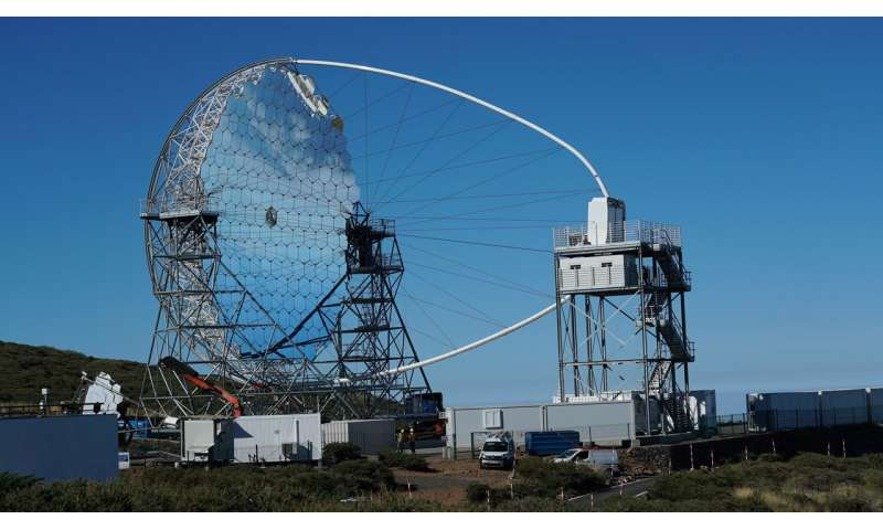 The first telescope on a Cherenkov Telescope Array site makes its debut