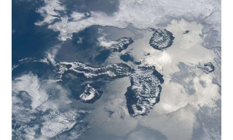 The Galapagos Islands, pictured in a photo shot from more than 200 miles above Earth by NASA astronaut Ricky Arnold