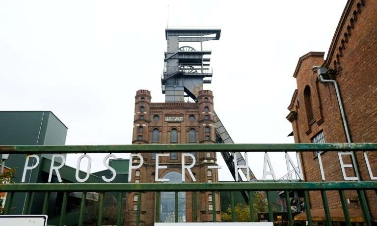 The headframe of the Prosper Haniel coal mine in Bottrop, which closes on Friday, is Germany's last black coal mine