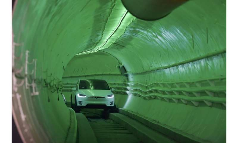 The idea for the tunnel project came to Elon Musk when he was fuming at the wheel of his car, trapped in traffic jams between hi