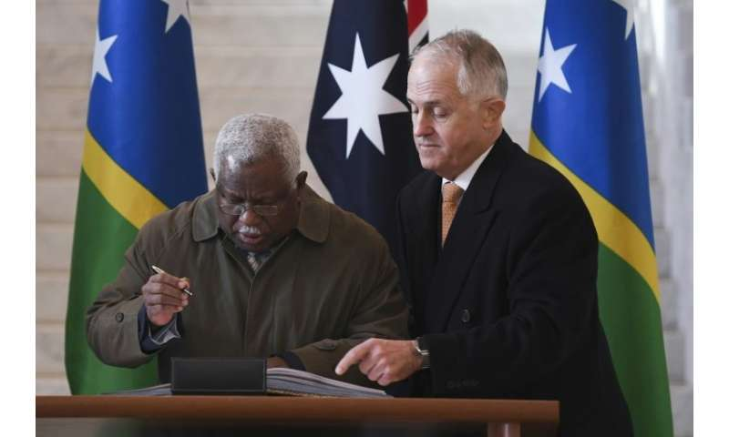 The impoverished Solomon Islands and Huawei inked a deal in late 2016 to construct the fibre-optic cable to Honiara to improve i