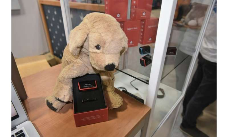 The Jagger & Lewis emotional and activity tracker for dogs is seen at the 2018 Consumer Electronics Show