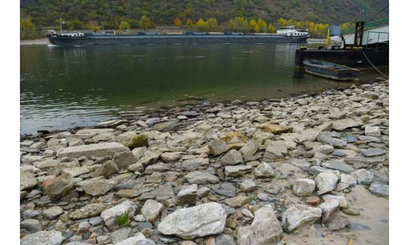 The Rhine is not its usual mighty self because of drought