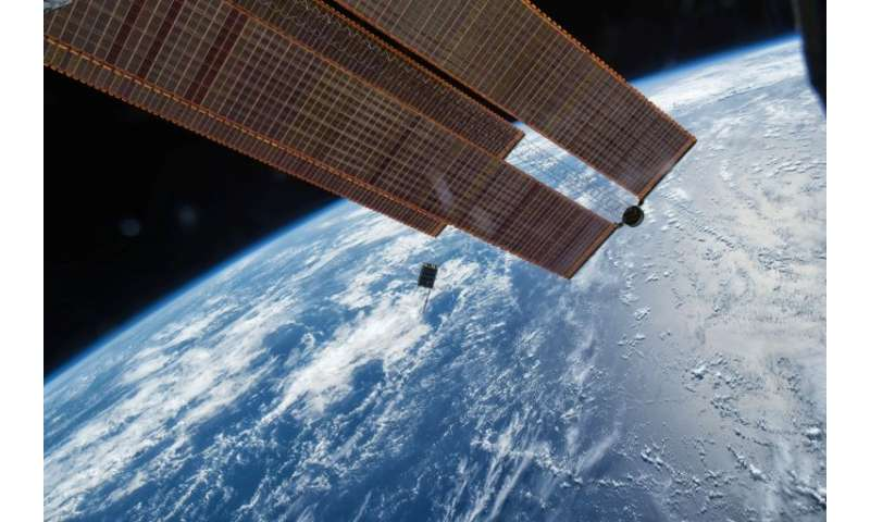 The satellite containing newlyweds' commemorative wedding plaques will be taken up to the International Space Station on a suppl