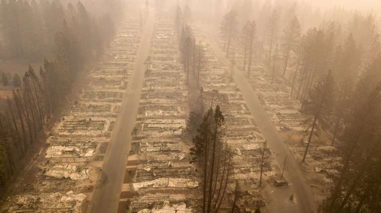 The so-called Camp Fire in the state's north has so far swallowed 142,000 acres, destroying almost 10,000 buildings and laying w