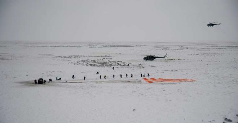 The spacecraft landed safely and slightly ahead of schedule in Kazakhstan