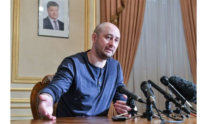 The staged death of anti-Kremlin journalist Arkady Babchenko in May has been described by a press watchdog as'a godsend for par