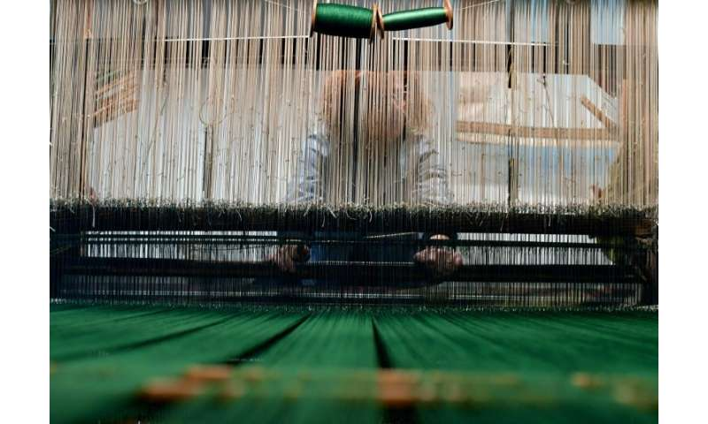 The workshop manufactures fabrics, lace and ribbons in styles and colours favoured by the historic House of Medici