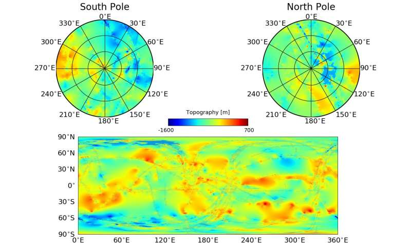 Titan topographic map unearths cookie-cutter holes in moon's surface