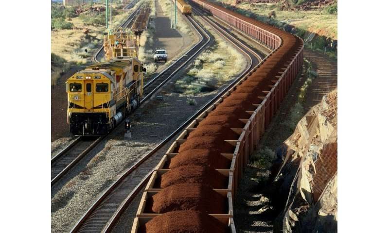 Trains are used to transport thousands of tons of iron ore through remote parts of Western Australia