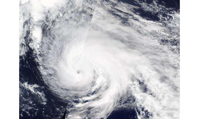 Typhoon Wukong opens an Eye to NASA's Terra satellite