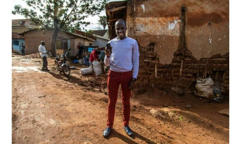 Ugandan entrepreneur Moris Atwine, 25, helped to develop a mobile app to aid in the diagnosis of malaria, a worldwide killer, wi