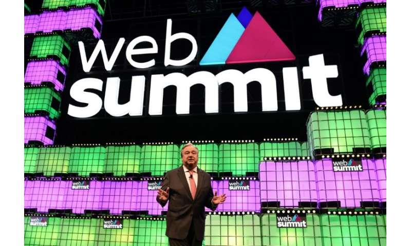 "UN Secretary-General Antonio Guterres told the Web Summit that he was ""very happy I have chosen my soulmate by traditional"