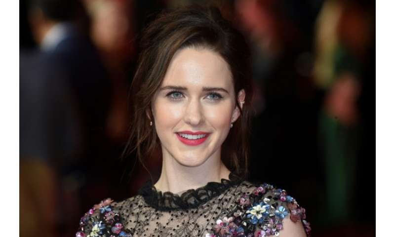 """US actor Rachel Brosnahan posed on the red carpet for the World premiere of Amazon's """"The Romanoffs"""" in central London"""