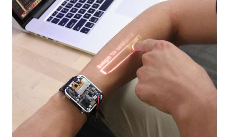 Using your arm as a smartwatch touchscreen