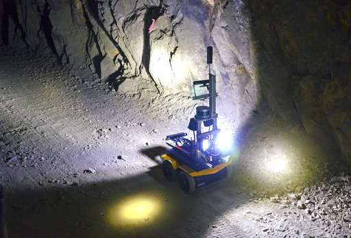 US officials consider new tool to combat mine spills: Robots