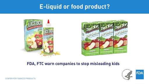 US warns liquid nicotine packets resemble juice boxes, candy