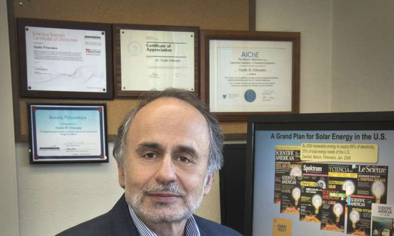Vasilis Fthenakis receives IEEE's William R. Cherry Award