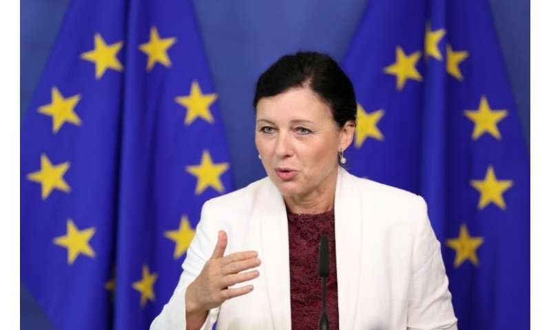 Vera Jourova, the EU commissioner responsible for consumer affairs, says five million Europeans are among the 50 million Faceboo