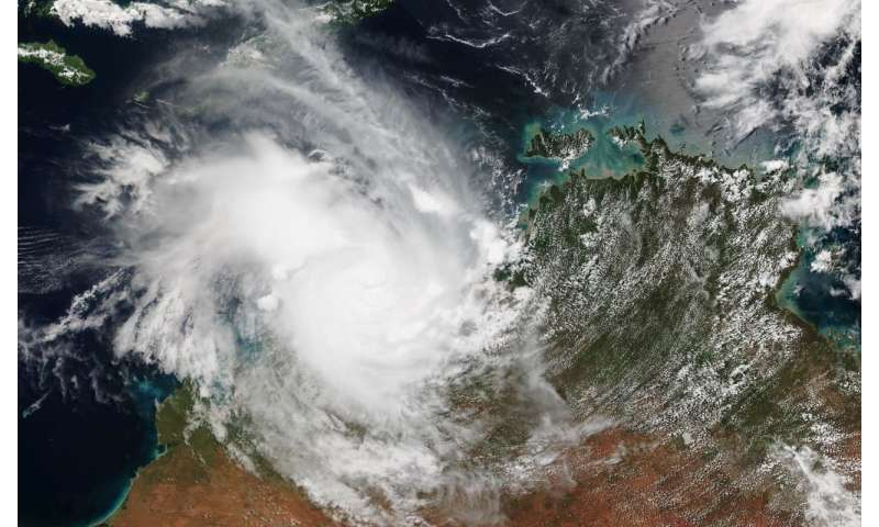 VIIRS satellite instrument gets 2 views of Tropical Cyclone Marcus