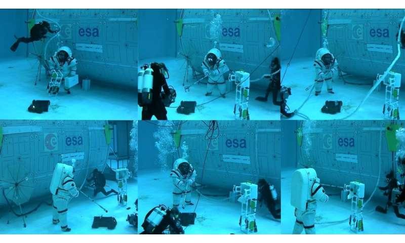 Walking on the moon – underwater