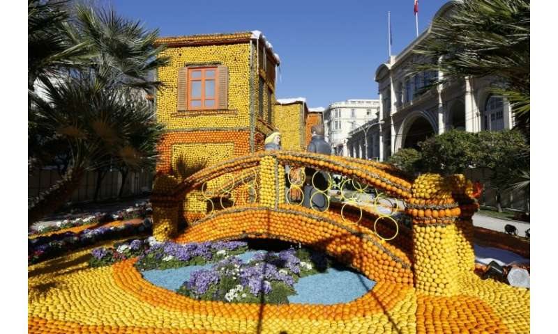 What will the annual Lemon Festival outside of the French Riviera city of Nice do without lemons and oranges for its sculptures?
