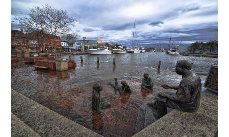 Why is sea level rising faster in some places along the US East Coast than others?