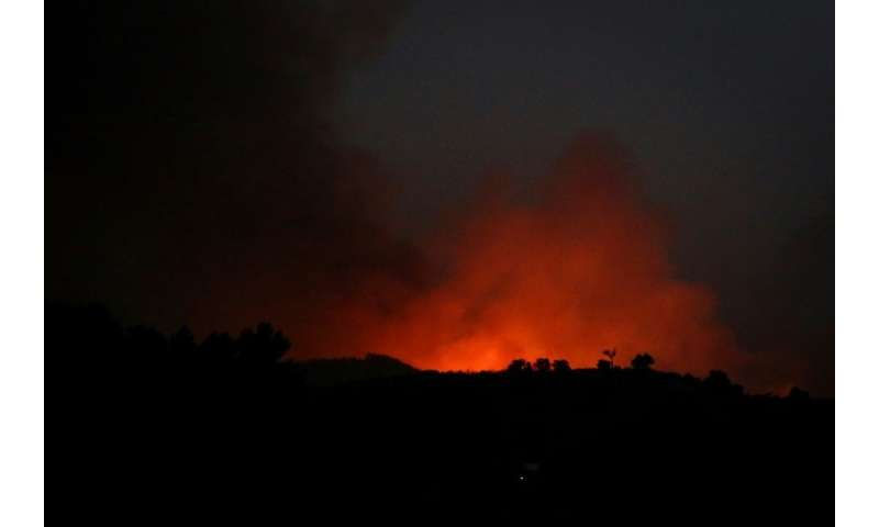 Wildfires are closing in on the Portuguese Algarve town of Monchique
