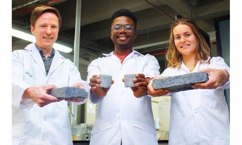 World's first biobricks grown from human urine