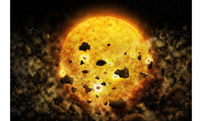 X-ray data may be first evidence of a star devouring a planet