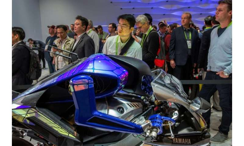 Yamaha's 'Motoroid' concept electric motorcycle reaches speeds topping 200 kilometers per hour but is blind, relying on pre-prog