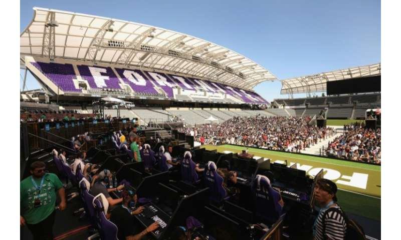 Yes, Fortnite game tournements fill stadiums, such as this one in Los Angeles earlier this year