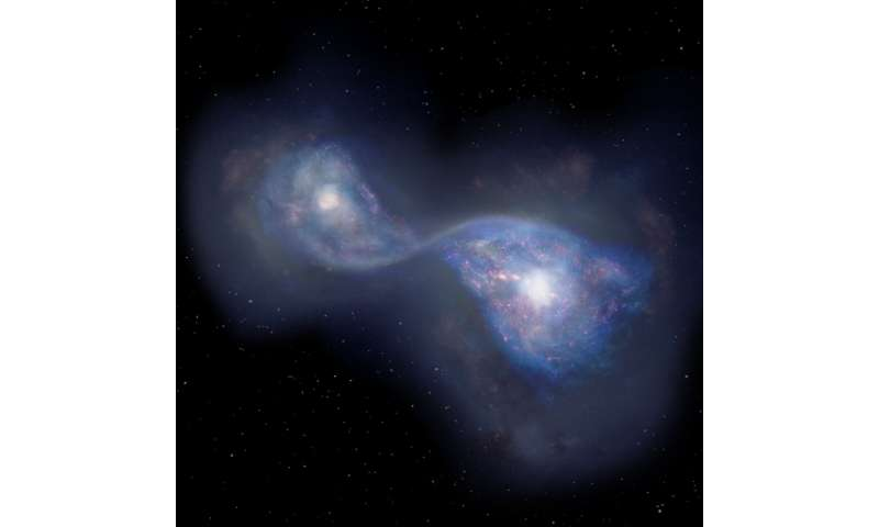 ALMA finds earliest example of merging galaxies