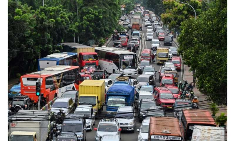 Authorities hope that the line linking central and southern Jakarta will cut carbon emissions and provide commuters some respite