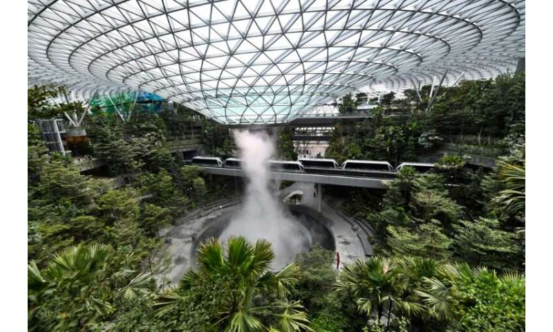 Built for a reported 1.25 billion, the centre has four-storey gardens as well as 280 retail and food outlets, a hotel and cinema