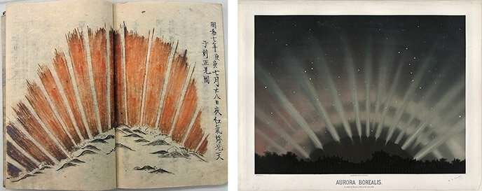 Centuries-old drawings lead to better understanding of fan-shaped auroras
