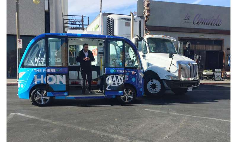 Feds: Truck driver likely caused self-driving shuttle crash